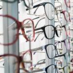Eye glass frames on display