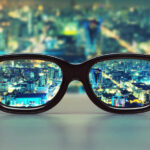 Eye health - Glasses showing blurred verses clear vision