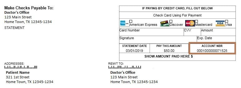Quick Pay statement example